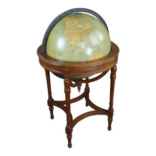 "19th Century Style 18"" Terrestrial Globe on Stand by Webber Costello-C1920s For Sale"