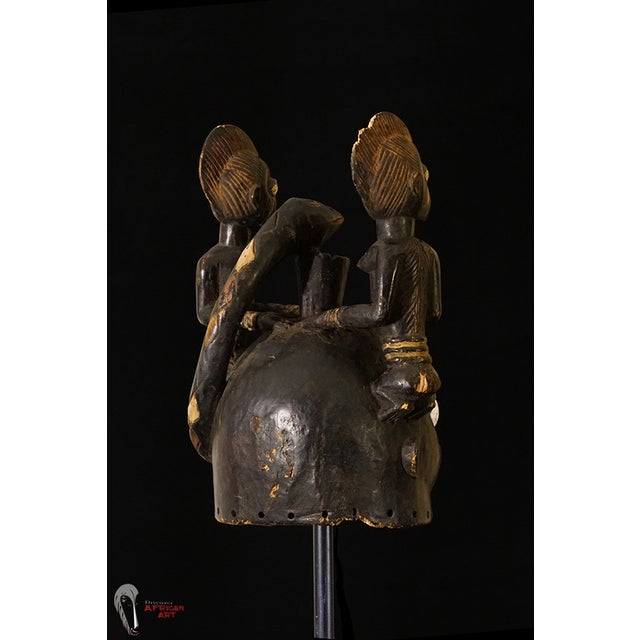 Yoruba African Tribal Helmet Mask - Image 7 of 10