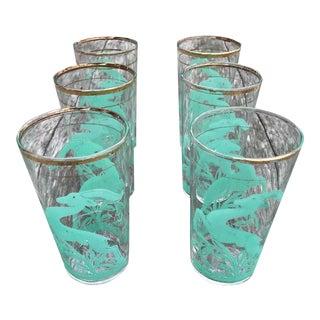 Vintage Mid-Century Modern Cocktail Glasses - Set of Six