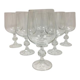 Bohemia Czech Crystal Claudia Goblets W/Box - Set of 6 For Sale