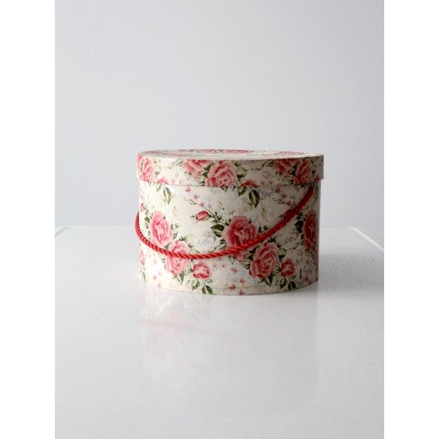 Vintage Floral Hat Box - Image 7 of 8