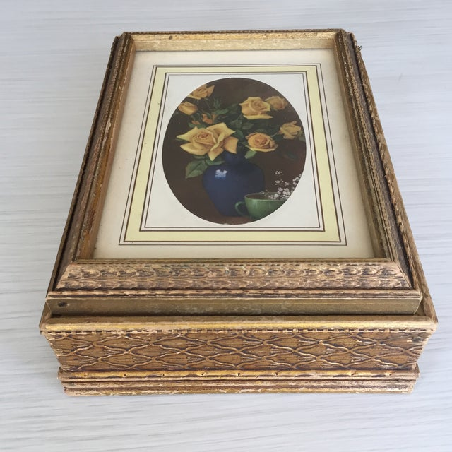 Antique Carved Wooden Jewelry Box - Image 5 of 11