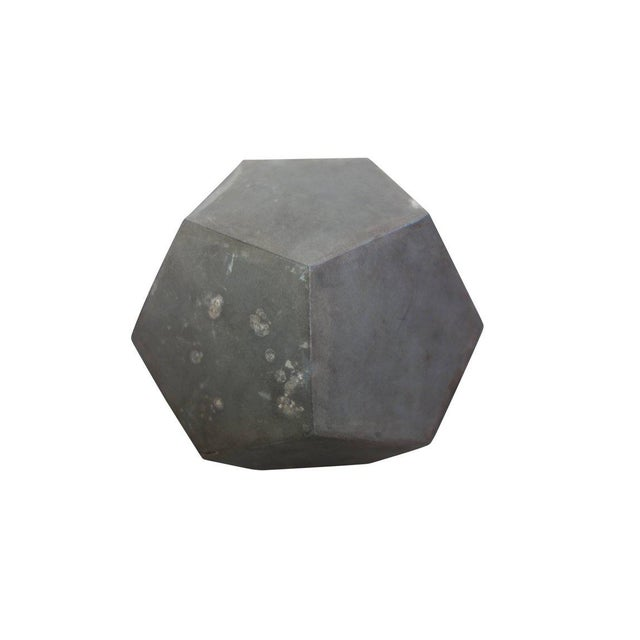 1920s Zinc Geometric Forms - Set of Four For Sale - Image 9 of 10