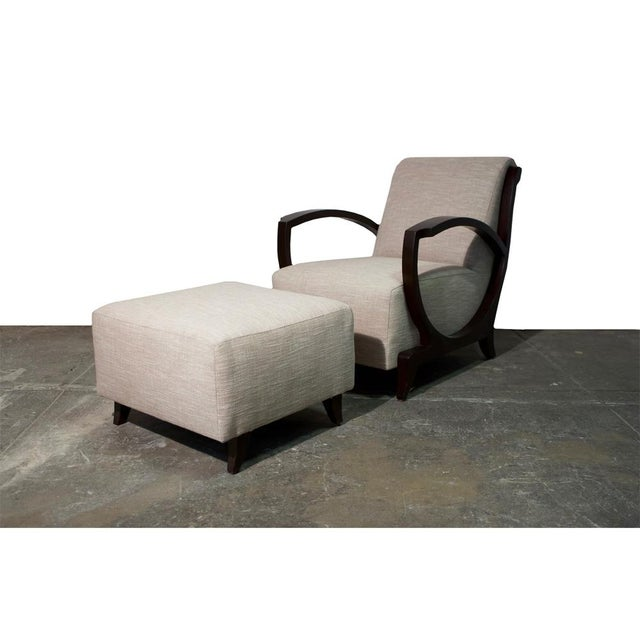 Art Deco Club Chair and Ottoman For Sale - Image 9 of 9