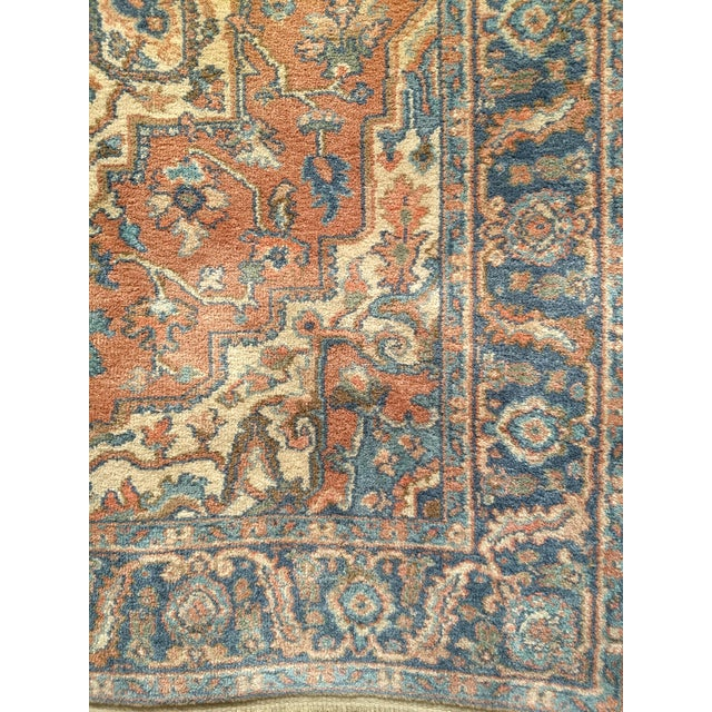 "Vintage Heriz Serapi Karastan Rug- 4'3"" X 6' For Sale - Image 4 of 7"