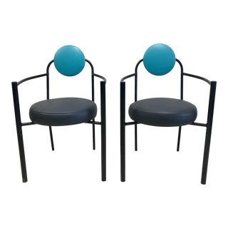 1980s Vintage Memphis Style Figurative Arm Chair - a Pair For Sale