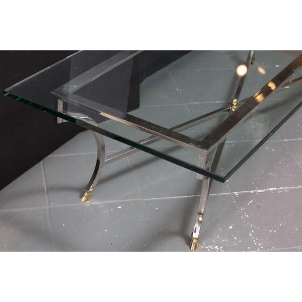 Mid-Century Modern Maison Jansen Style Coffee Table For Sale - Image 3 of 8