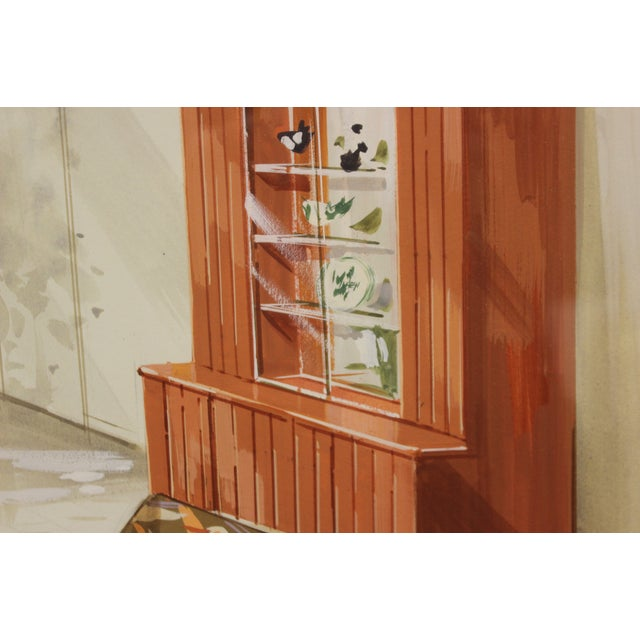 Mid-Century Modern Tropical-Inspired Retro Living Room Painting For Sale - Image 3 of 6