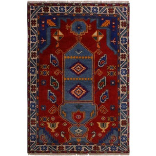 1990s Vintage Balouchi Angel Wool Rug - 3′2″ × 4′10″ For Sale