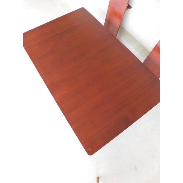 Country Tom Seely Solid Cherry Country Style Dining Table For Sale - Image 3 of 11