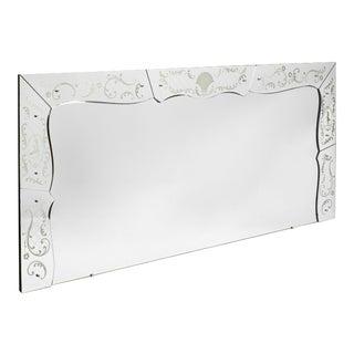 Large Art Deco Period Vintage Venetian Mirror