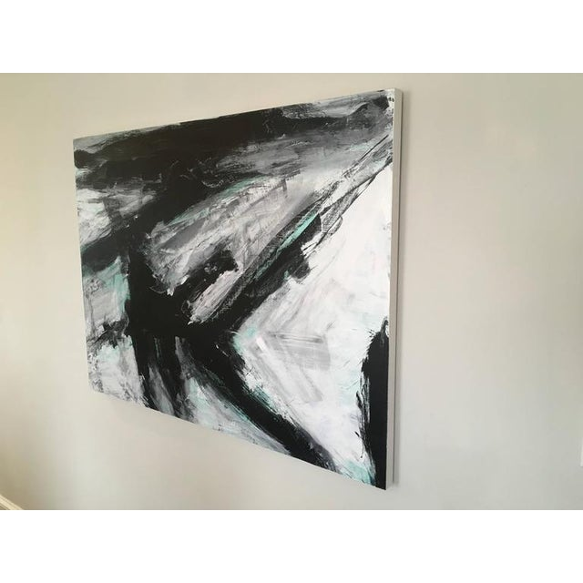 Europa 23 by Los Angeles artist Stephanie Cate is Acrylic on Wood Panel. It is 36x48. The black, white and green...