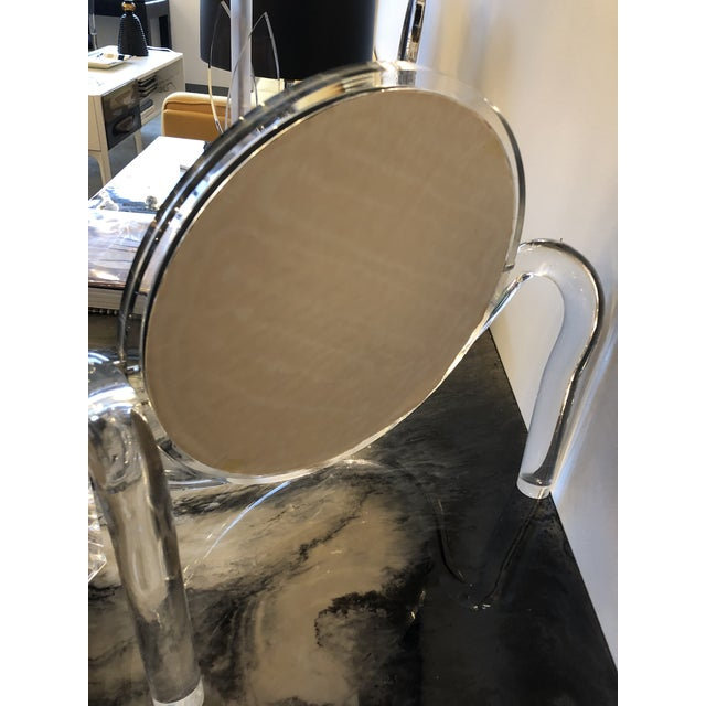 Mid Century Modern Dorothy Thorpe Lucite Tabletop Make-Up Mirror - Image 8 of 10