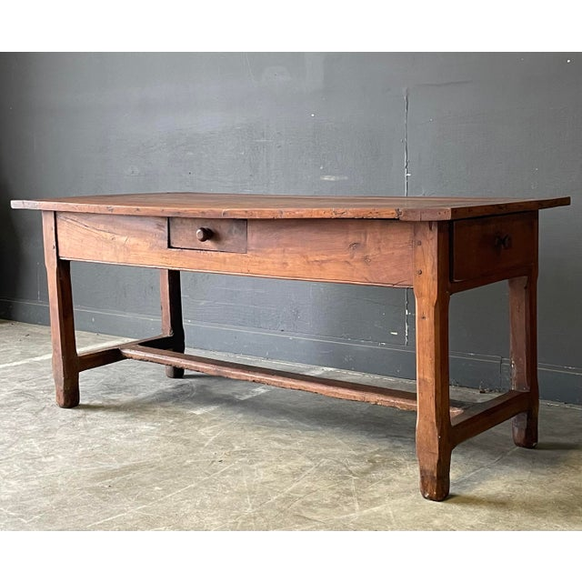 1800's Primitive French Dining/Work Table/Console For Sale - Image 12 of 13