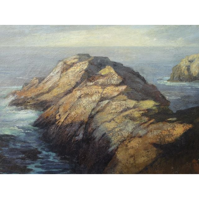DeWitt Parshall Point Lobos Oil on Canvas - Image 5 of 10