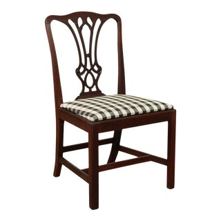 Chippendale Style Vintage Mahogany Side Chair For Sale