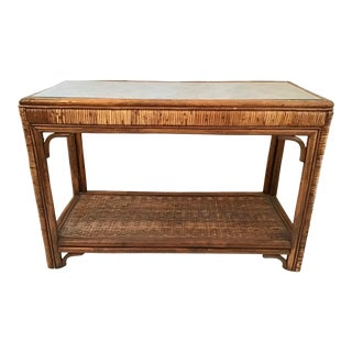 1960s Vintage Ficks Reed Console For Sale