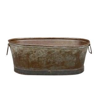 Oval Vintage Metal Tub