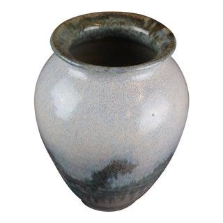 Vintage Mid Century Misty Pottery Vase For Sale
