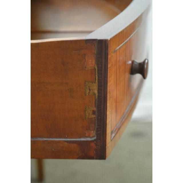 Regency Style 1930s Inlaid Satin Wood Console Sideboard For Sale - Image 10 of 13