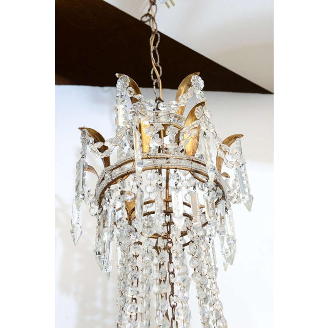 Crystal Empire Form Crystal Chandelier For Sale - Image 7 of 10