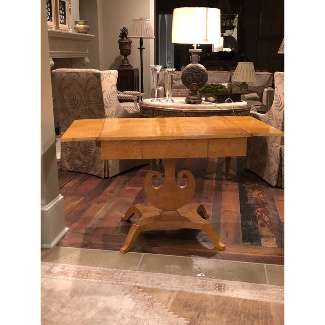Late 20th Century Art Deco Maple Drop-Leaf Table For Sale - Image 5 of 10