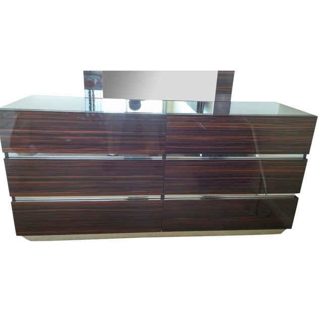 Luxor Italian Modern Ebony Dresser - Image 4 of 4