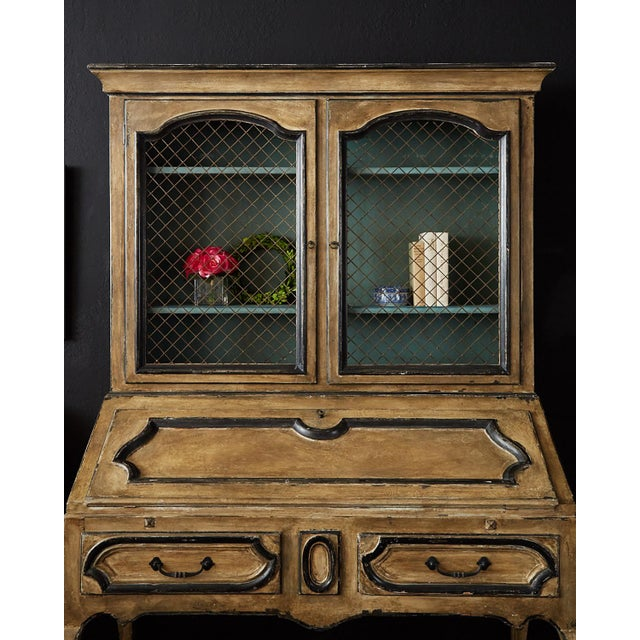 Early 20th Century Swedish Gustavian Style Two-Part Secretaire Bookcase For Sale - Image 5 of 13
