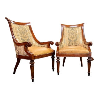 Thomasville Furniture Ernest Hemingway Marcialano Dining Chair - a Pair For Sale