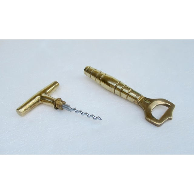 1960s Vintage C.1960s Mid-Century Carl Aubock-Style, Bronze Dual Bottle Top Opener and Cork Screw in One For Sale - Image 5 of 13