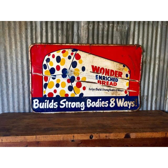 Vintage Original Wonder Bread Sign - Image 2 of 8