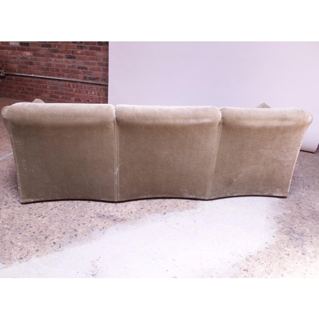 Textile 1970s Tentazione Sofa by Mario Bellini for Cassina in Original Sage Velvet For Sale - Image 7 of 13