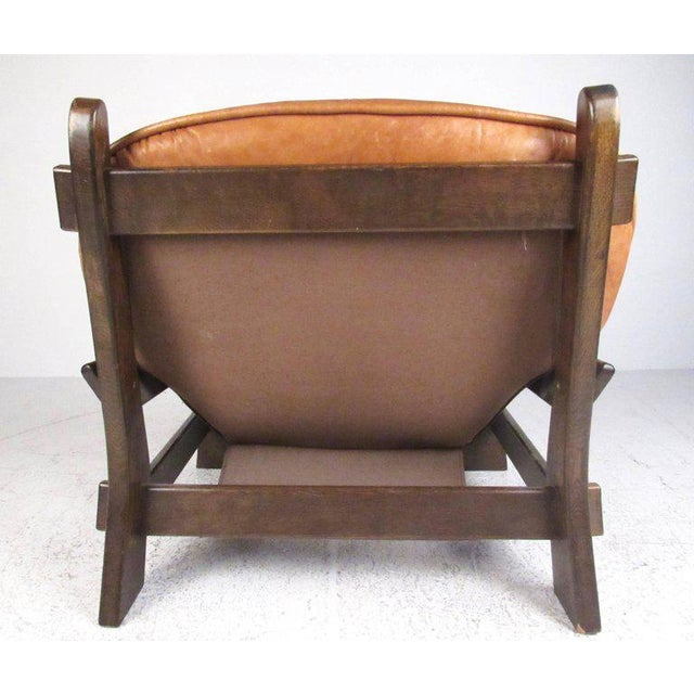 Percival Lafer Vintage Leather Lounge Chair in the Style of Percival Lafer For Sale - Image 4 of 11