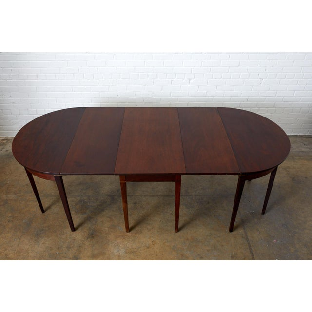 English Hepplewhite Mahogany Dining Table With Demilunes For Sale - Image 11 of 13