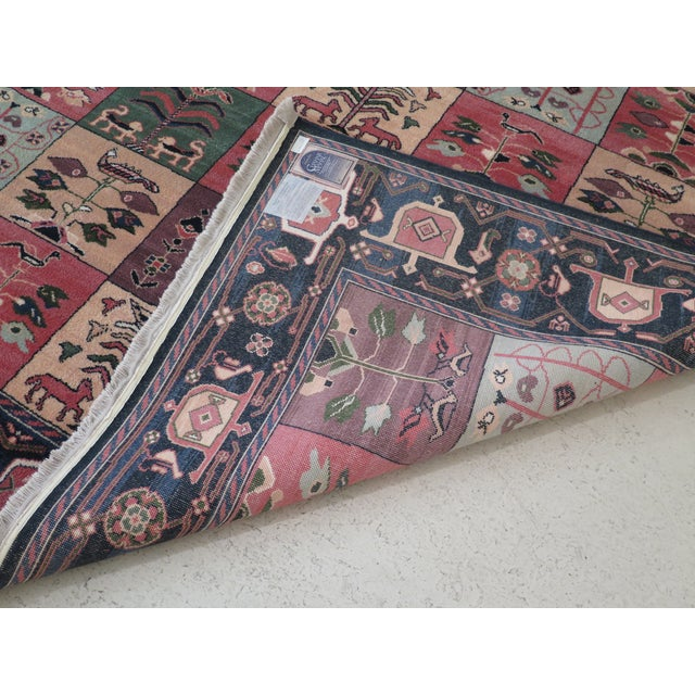 Red 1990s Vintage Karastan Pictorial Rug- 8′7″ × 11′6″ For Sale - Image 8 of 10