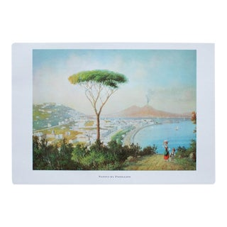 """1964 """"View to Naples From Posillipo"""", Original Lithograph For Sale"""