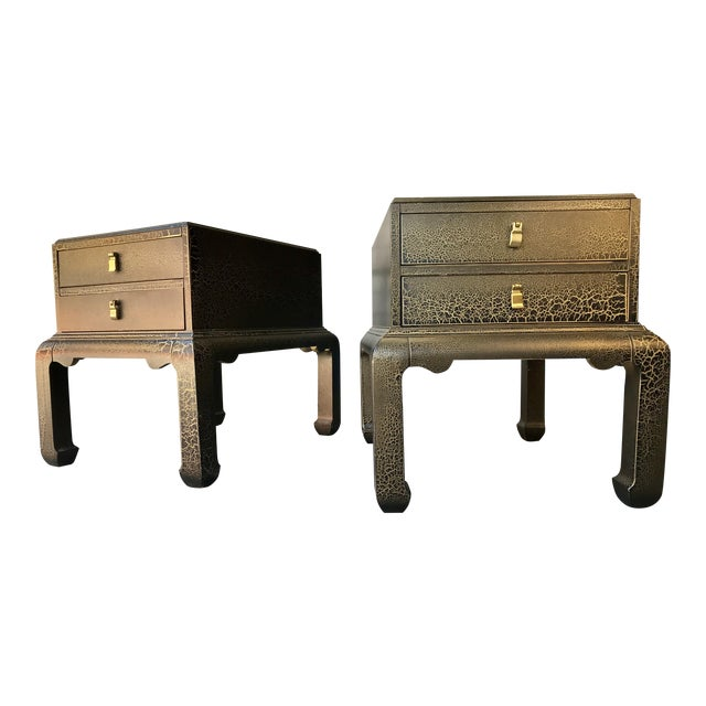 Asian Inspired End Tables by Lane Furniture - a Pair For Sale