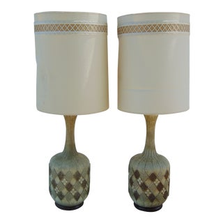 Mid-Century Ceramic Lamps - A Pair For Sale