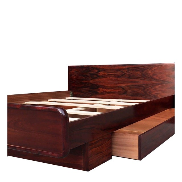 Brouer Mid-Century Modern/Danish Modern King Rosewood Platform Bed - Image 2 of 4