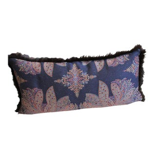 Pillow From Ralph Lauren Navy Paisley With Fur