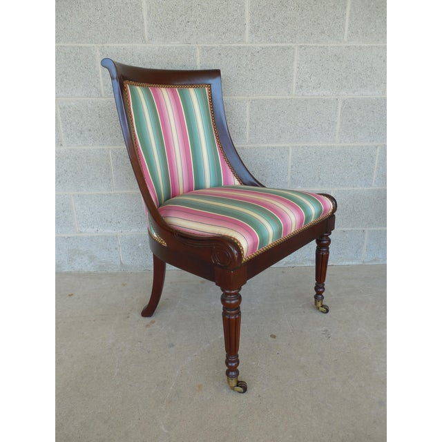 Hickory Chair Furniture Company Hickory Chair Regency Style Mahogany Accent Chairs - A Pair For Sale - Image 4 of 11