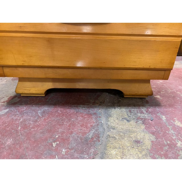 Metal 1960s Kling Blonde Solid Curly Maple Nightstand For Sale - Image 7 of 9