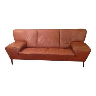 Vintage De Sede Modern Cognac Leather Sofa