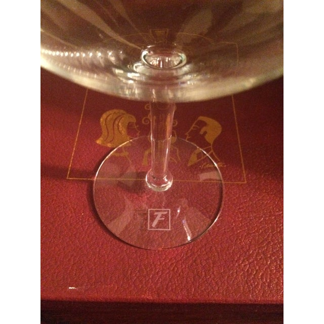 Transparent Mary Lynn Blaustta for Flemings Wine Glasses - a Pair For Sale - Image 8 of 10