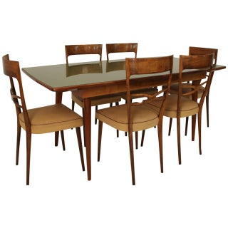 Melchiorre Bega Attributed Dining Chairs and Table