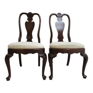 Ethan Allen Georgian Court Queen Anne Dining Chairs - a Pair