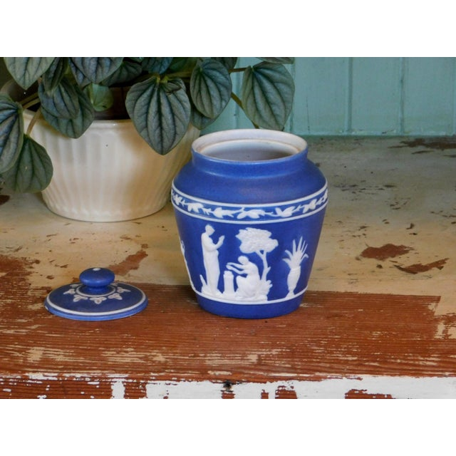 Traditional Grecian Lidded Jar For Sale - Image 3 of 7