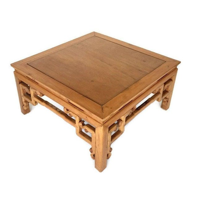James Mont Vintage 1940s Tibetan/Chinese Elm Coffee Table For Sale - Image 4 of 13