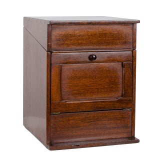 Mahogany Indexing File Box