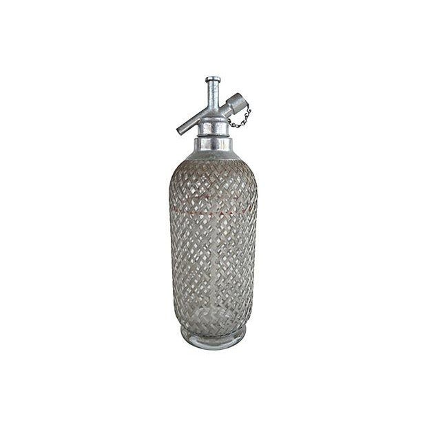 Vintage Seltzer Bottle With Wire Mesh - Image 4 of 4